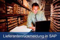 Lieferantenrückmeldung in SAP
