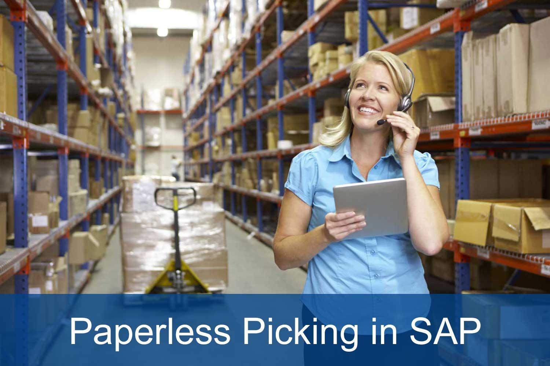 Paperless Picking in SAP WM/EWM with mobile picking methods